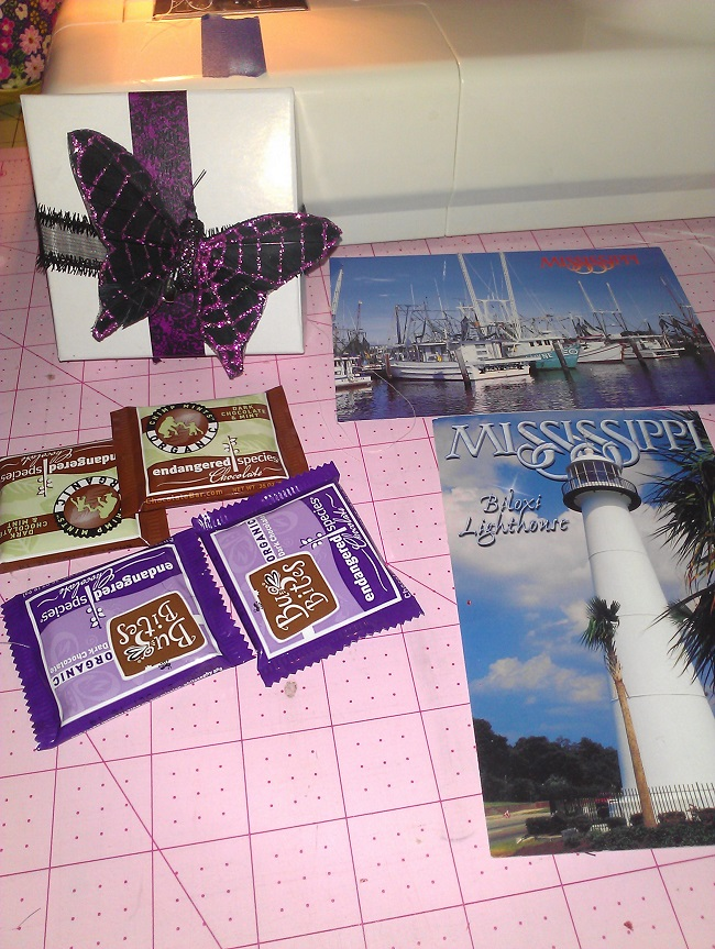Name:  Oct 13 pc swap - clip, chocolates and postcards.jpg