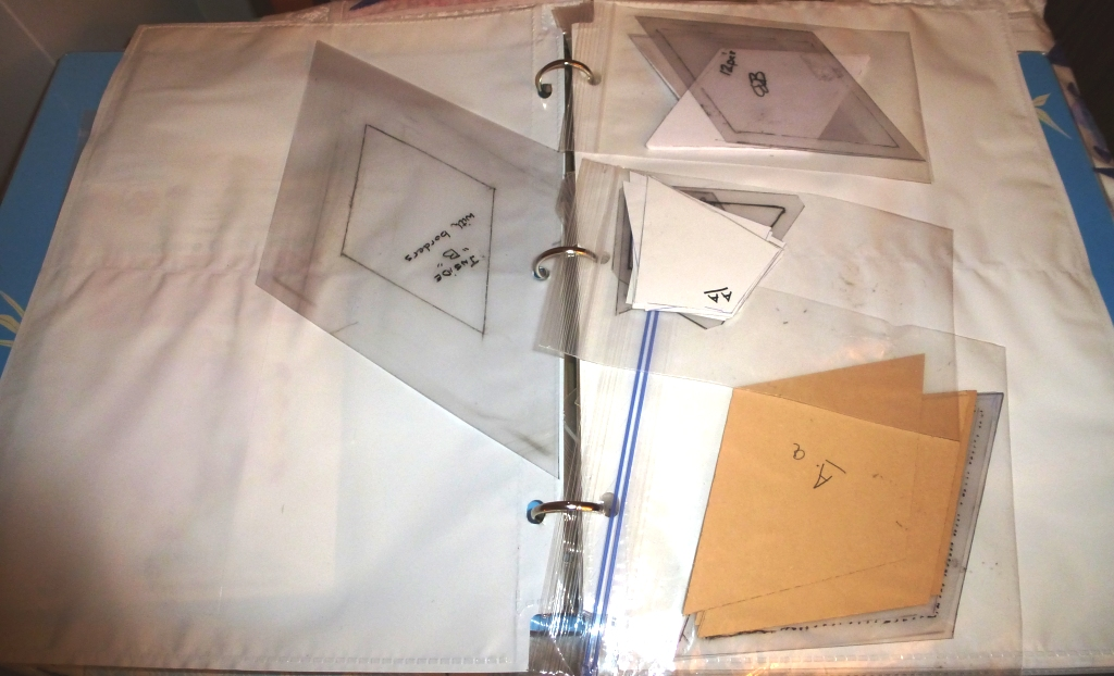 Organizing Quilting Templates : Storing quilting templates