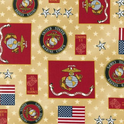 Sneek Peek New Patriotic Military Fabrics By Kaufman