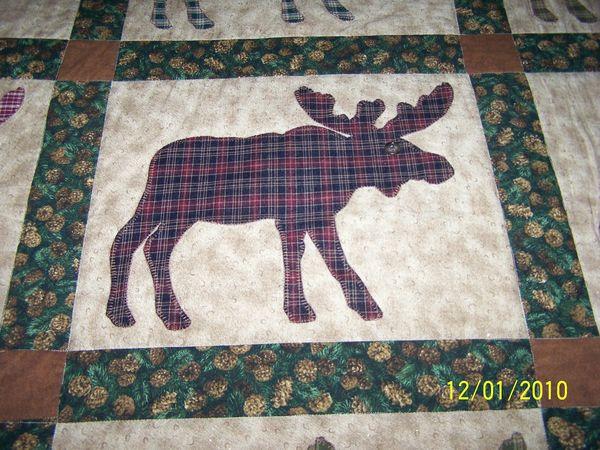Moose Quilt : moose quilt - Adamdwight.com