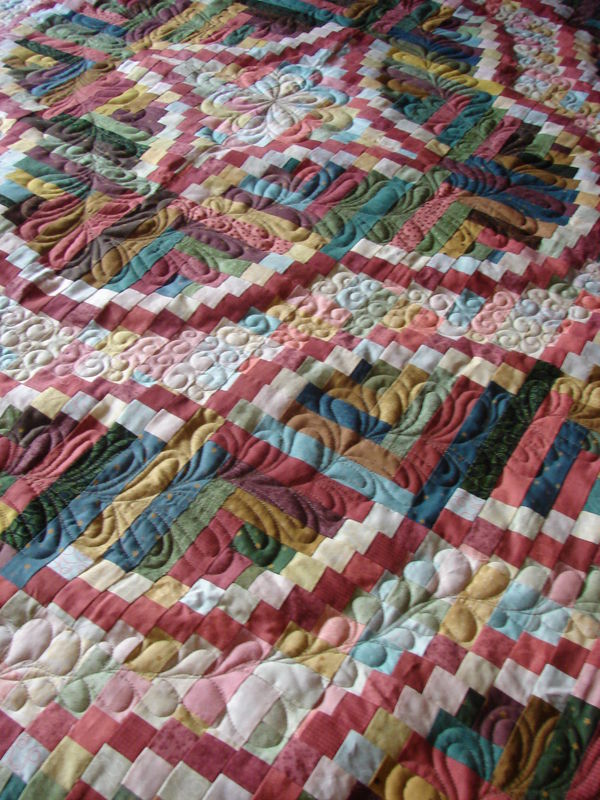 Snake River Log Cabin By Teresa Quilted By Charisma