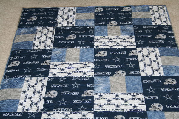 Completed Dallas Cowboys Quilt