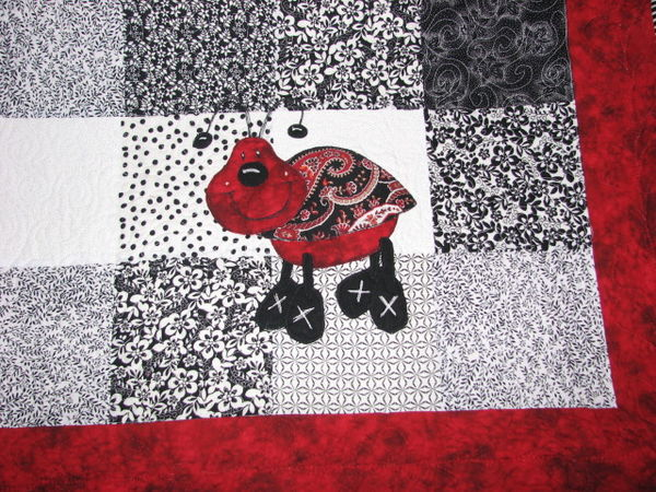 baby quilt: Ladybug Applique