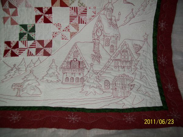 Absolutely Beautiful Redwork Christmas Quilt. : twas the night before christmas quilt - Adamdwight.com
