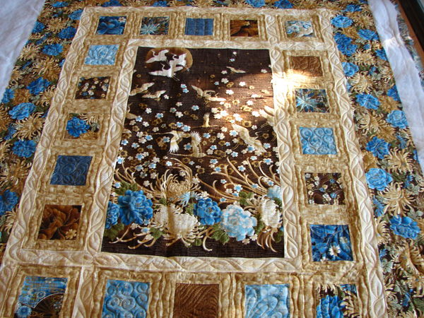 2 Asian Panel Quilts Quilted By Charisma