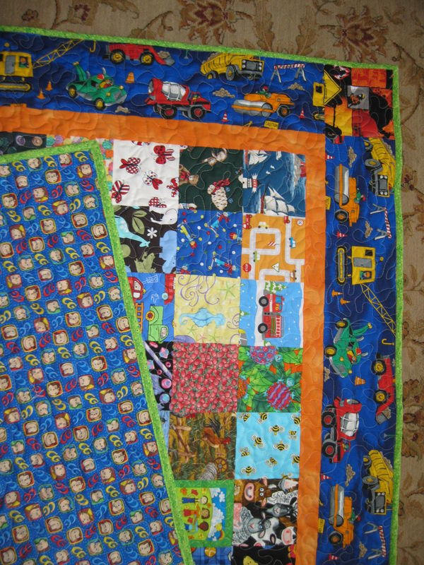 Pictures Of A Small Easy I Spy Quilt For A 2 Year Old