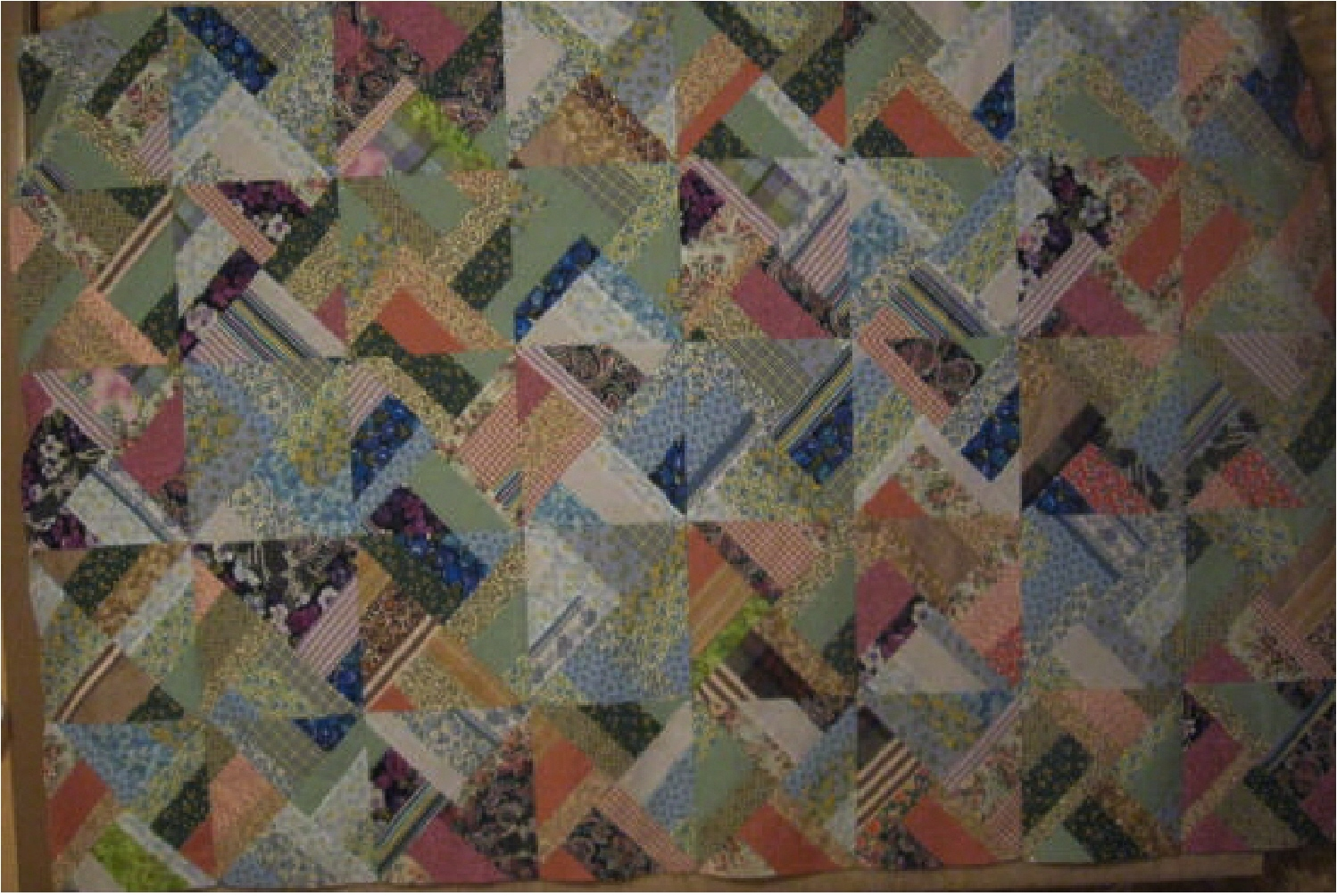Name:  Vintage Strip Quilt Top.jpg