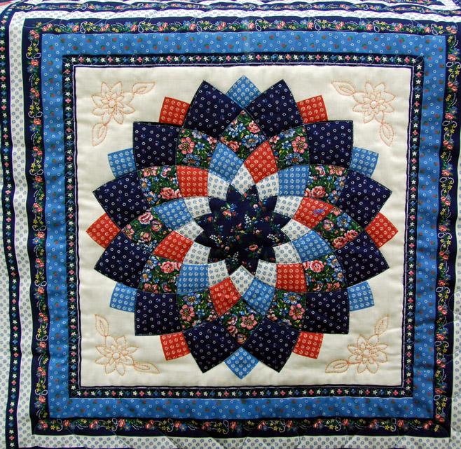 Blue Dahlia Quilt : dahlia quilts - Adamdwight.com