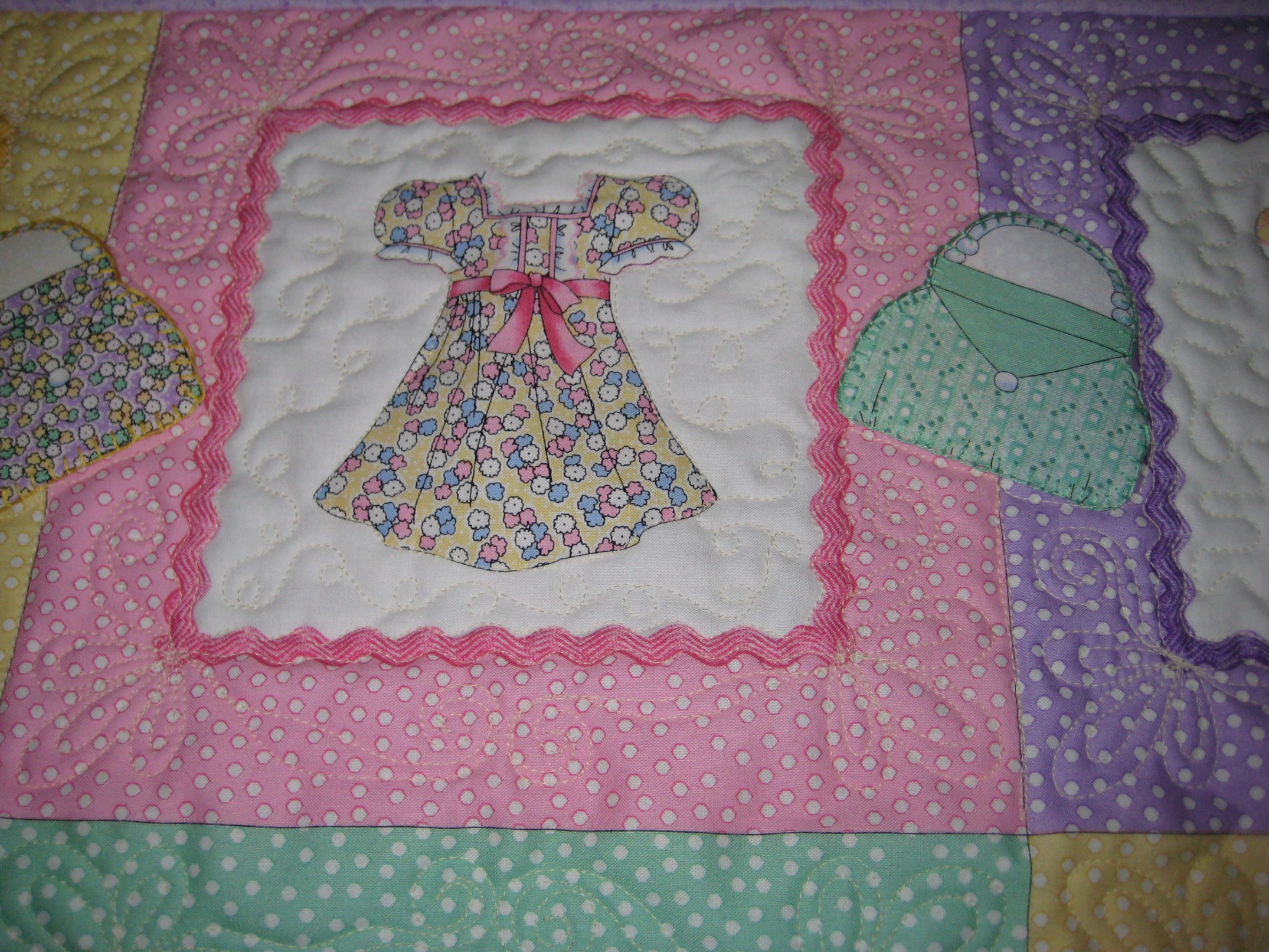 Baby Girl Quilt Dress Up Quilted By Aubrey