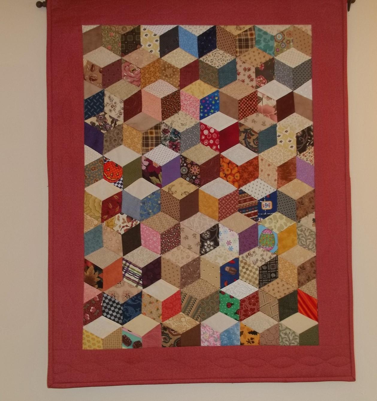 Лоскутное шитье кубики схема