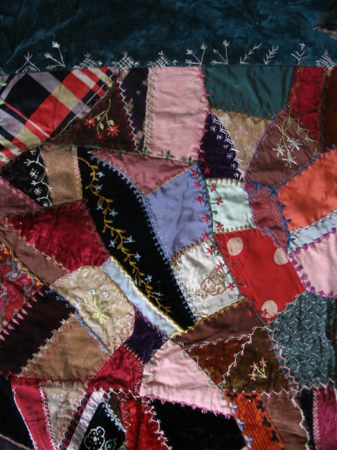 Name:  crazy quilt with blue floral vine.JPG
