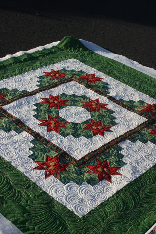 Christmas Wreath Quilted By Charisma