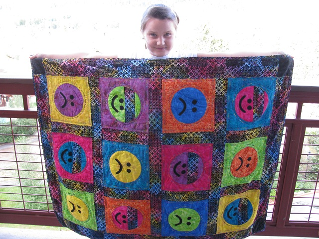 Name:  Emily and her quilt.jpg