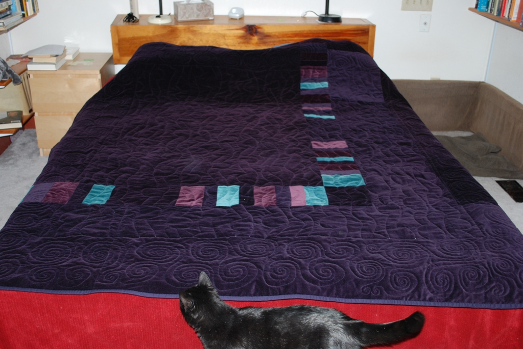 Name:  Holly's new quilt - back (purple velvet).JPG
