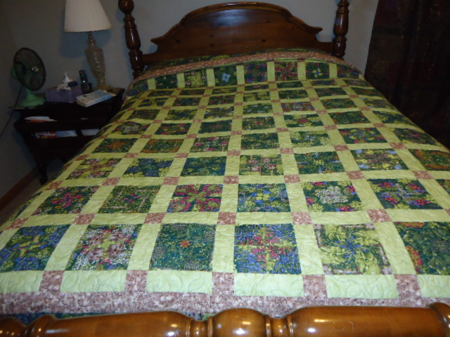 Click image for larger version.  Name:My 4-Patch Stacked Posie Quilt.JPG Views:1478 Size:117.3 KB ID:359836