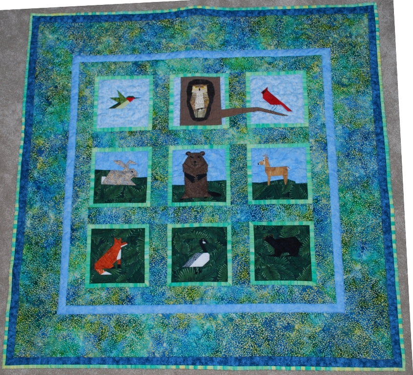 Name:  groundhog baby quilt - whole front.JPG Views: 1978 Size:  516.7 KB