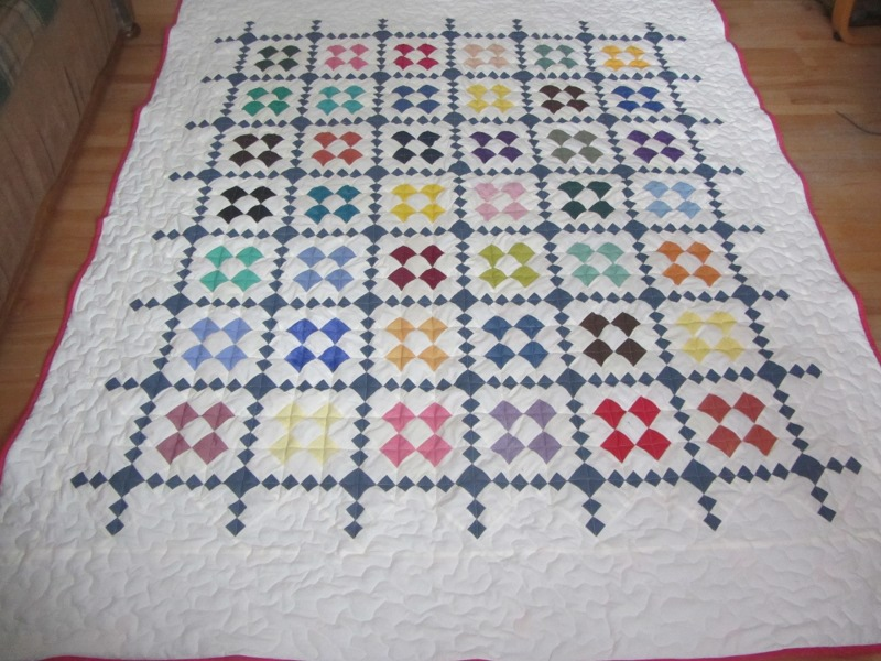 Name:  9 patch on point whole quilt.JPG