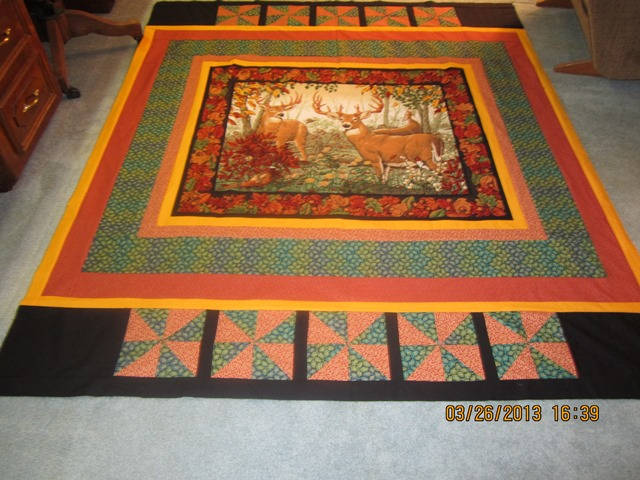 Name:  Deer quilt for my brother 002.JPG