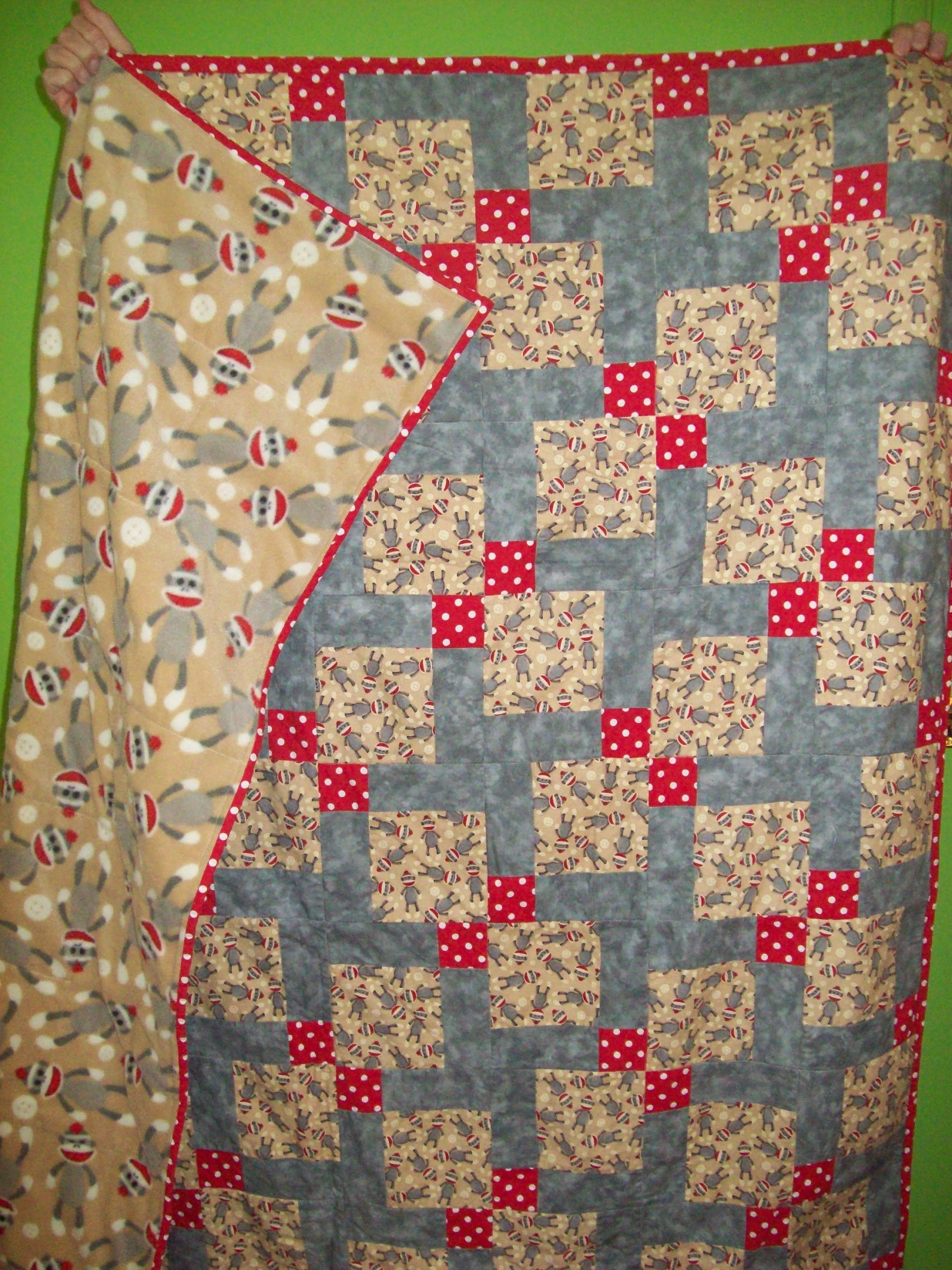 Name:  Sock Monkey Quilt back 3-2013 sm.JPG