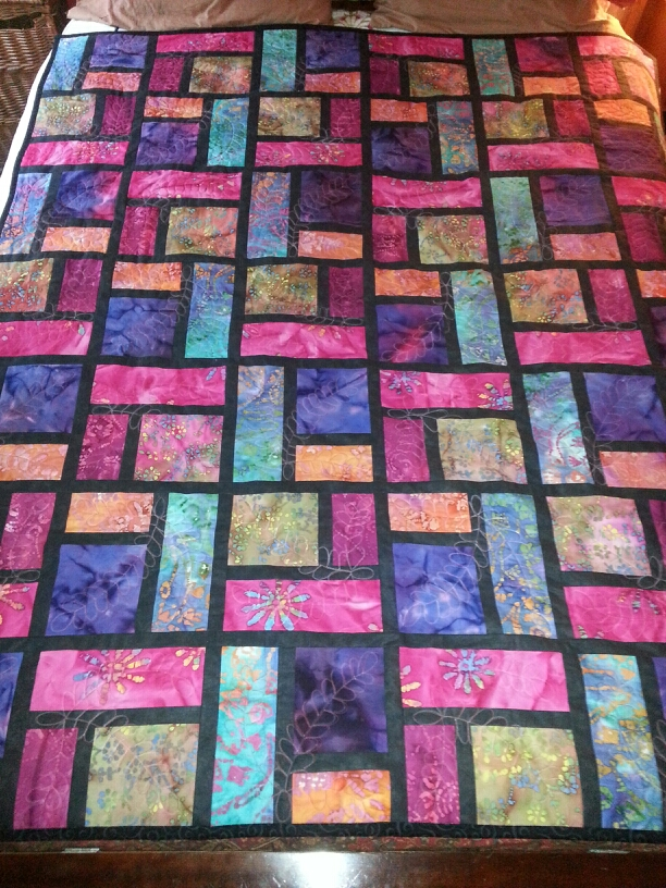 Wedding Gift Stained Glass Quilt