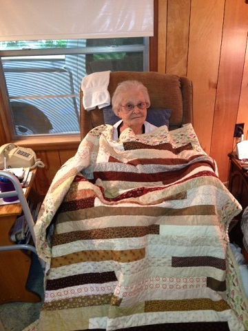 Name:  Grandmother and her quilt.JPG