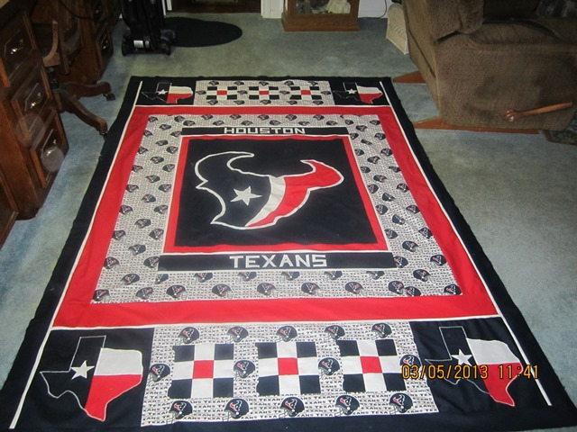 Name:  Brett's Houston Texans quilt 001.JPG Views: 1191 Size:  127.2 KB