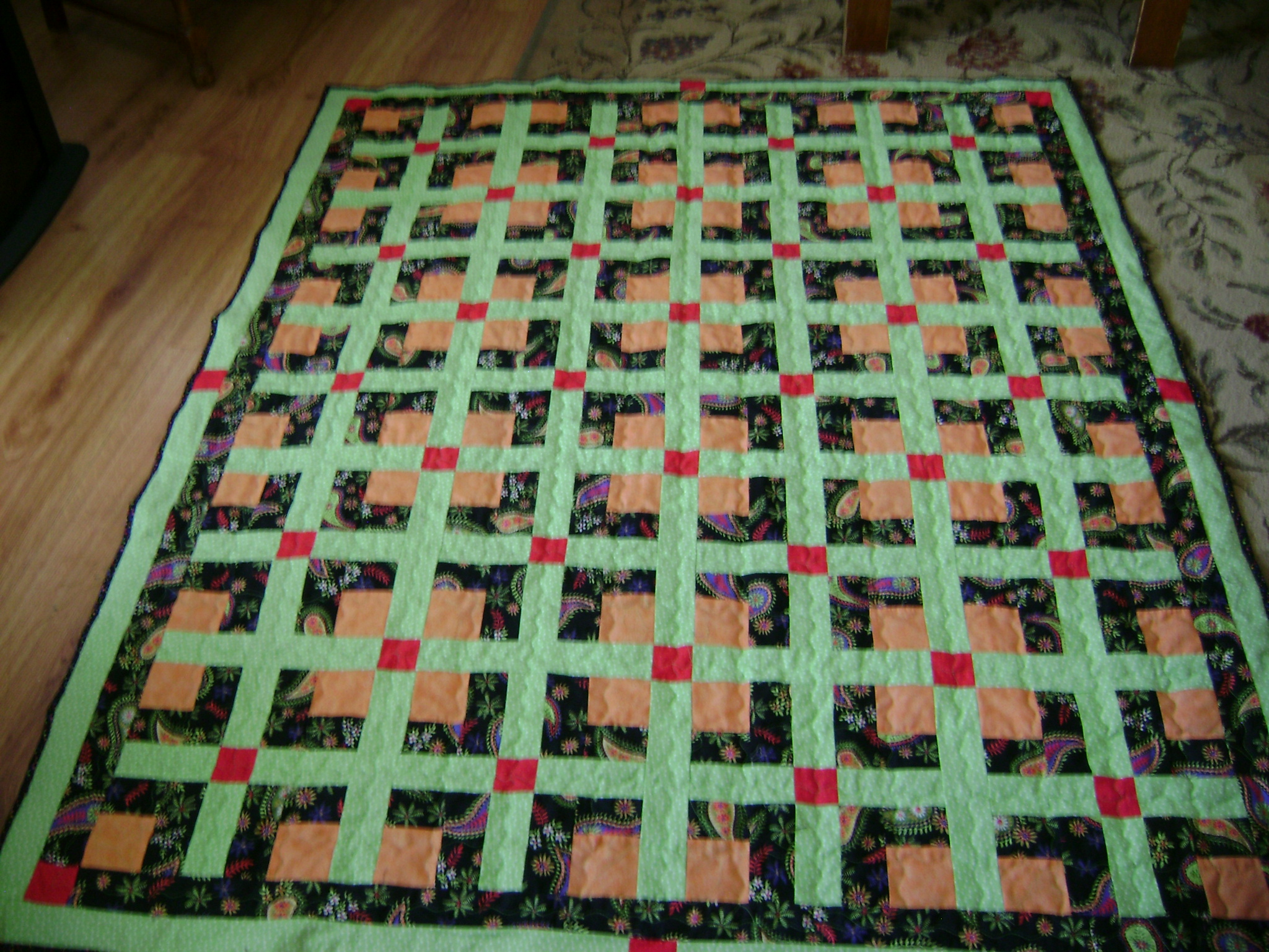 Name:  green sashed quilt 002.jpg