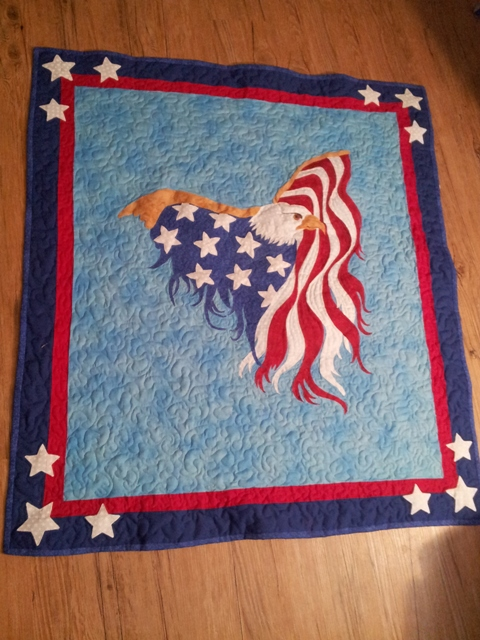 Name:  Eagle Wall Quilt 2013   1 of 2.jpg