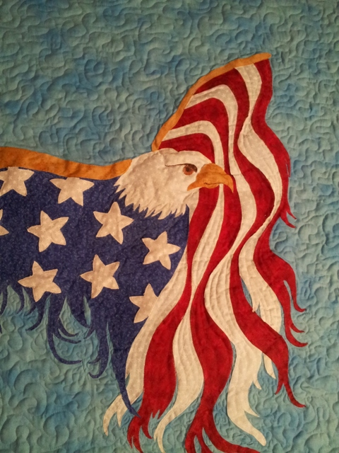 Name:  Eagle Wall Quilt 2013  2 of 2.jpg