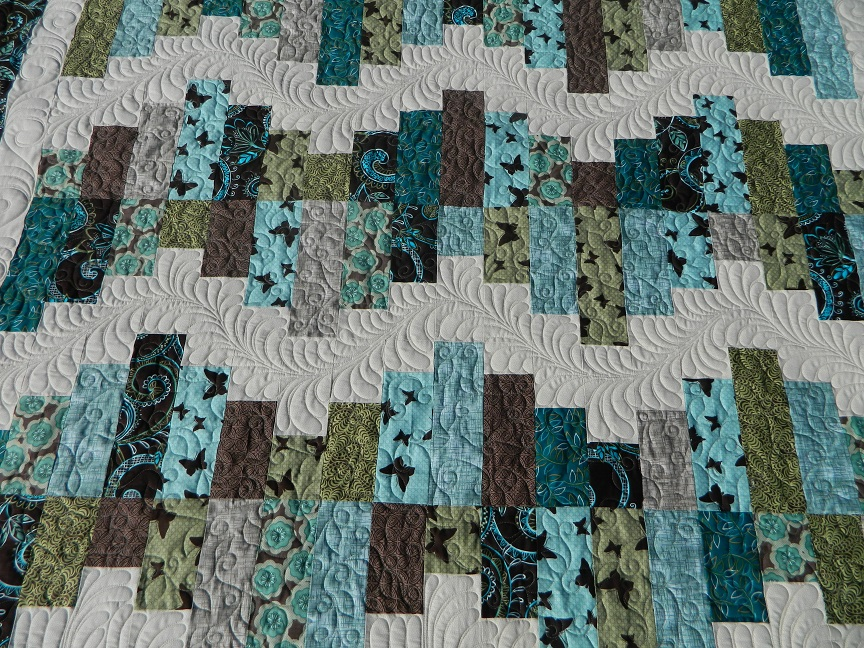 Aqua and Brown Quilt : teal and brown quilt - Adamdwight.com