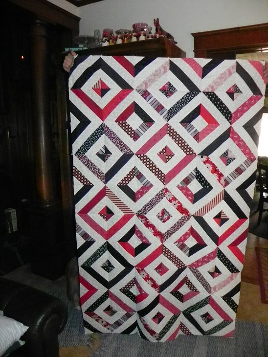 Name:  black red and white quilt flimsy  aug.2014 002.JPG