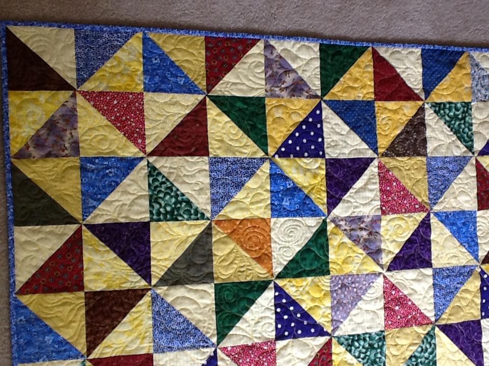 scrappy half square triangle quilt : half square triangle quilt - Adamdwight.com