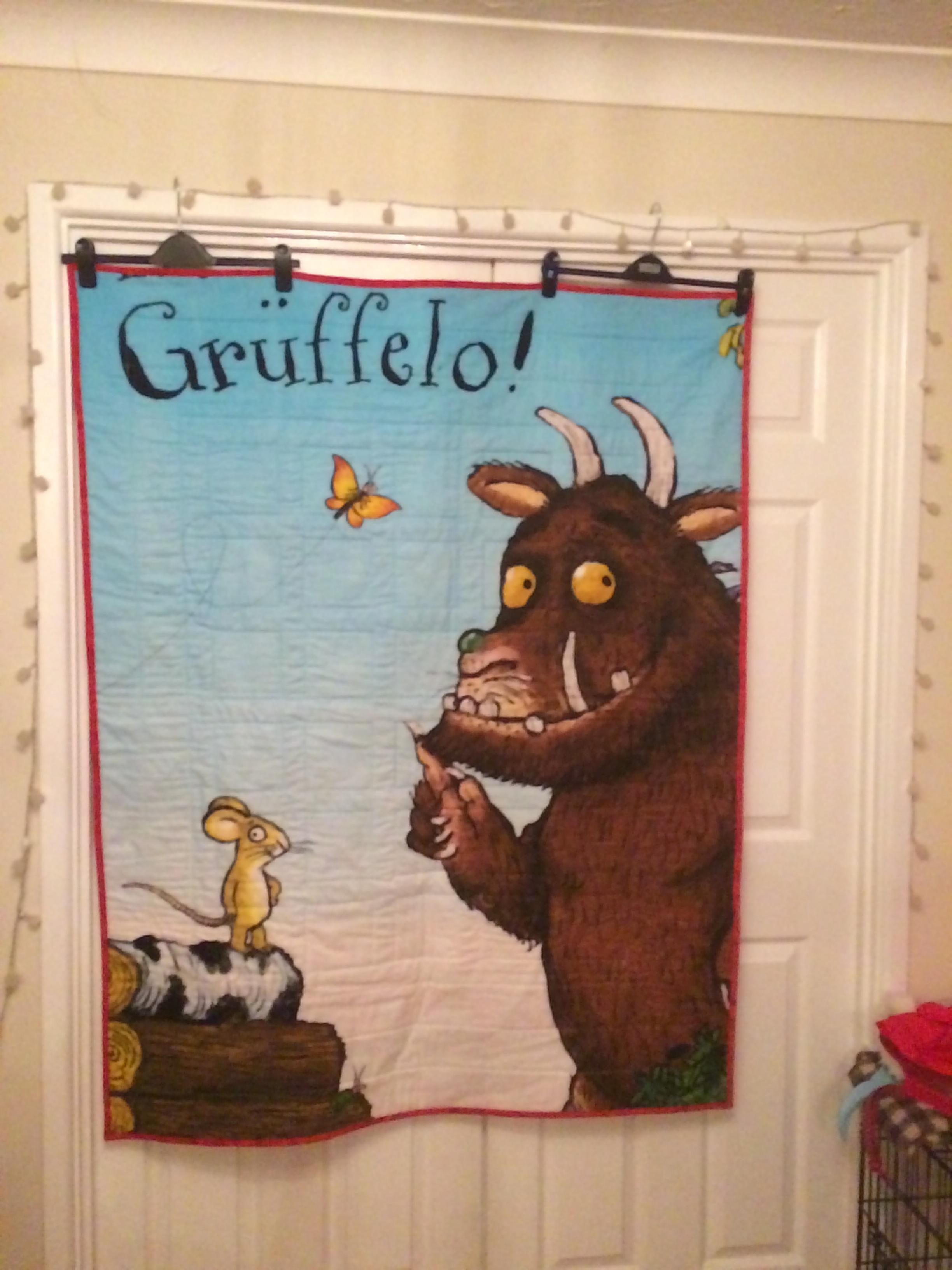 Ufo finish for Gruffalo fabric