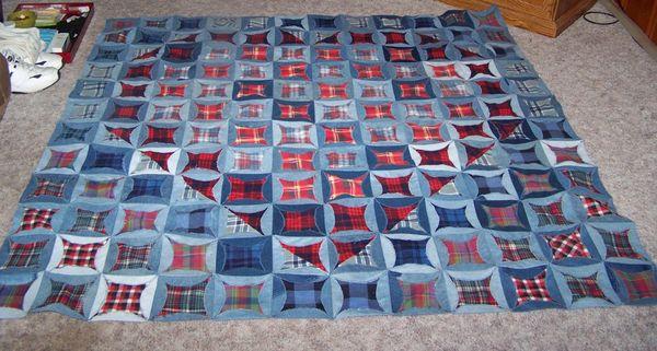 Blue Jean Circle Quilt
