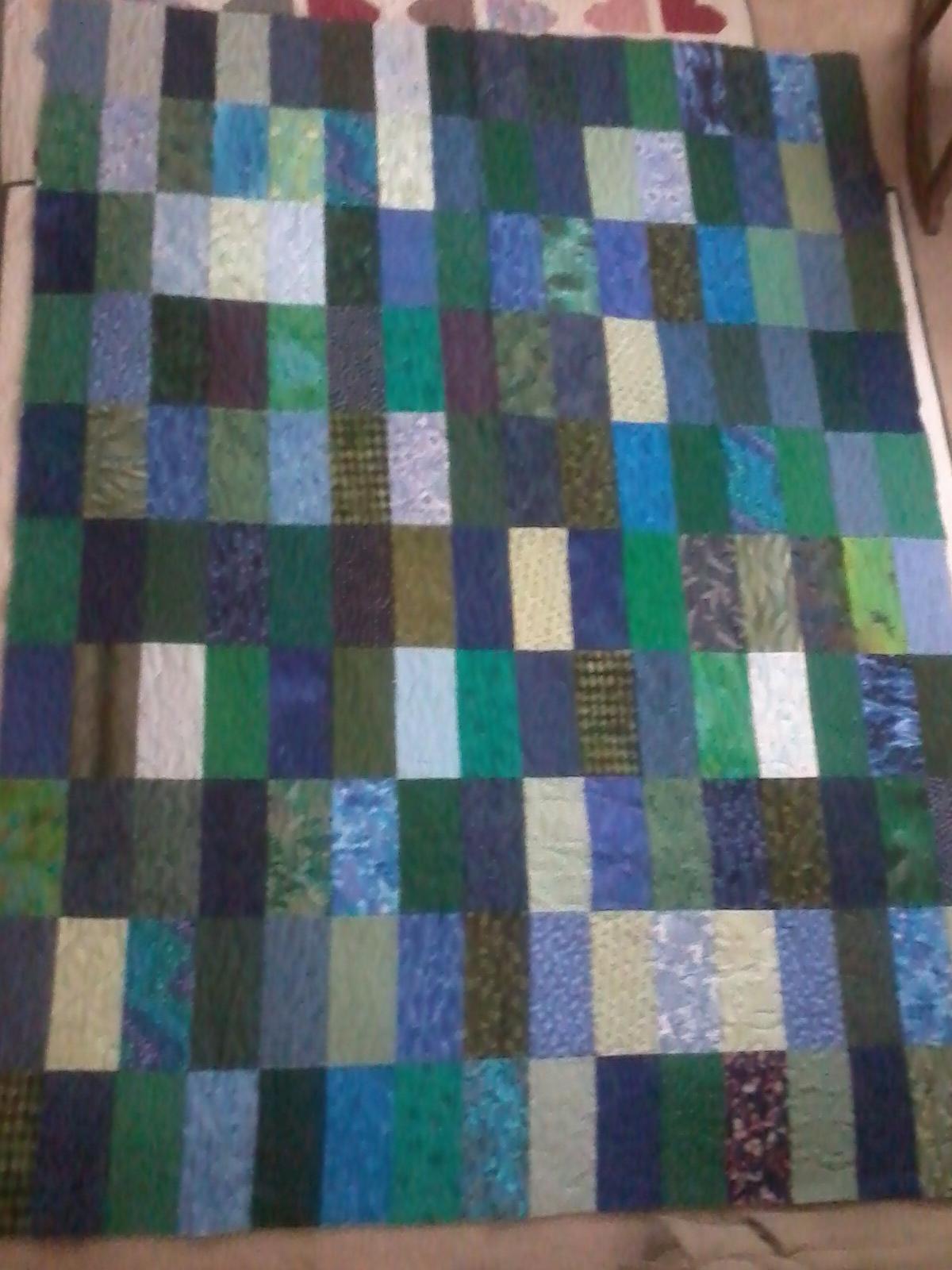 Name:  Blue & Green Bricks Quilt.jpg Views: 1435 Size:  467.2 KB