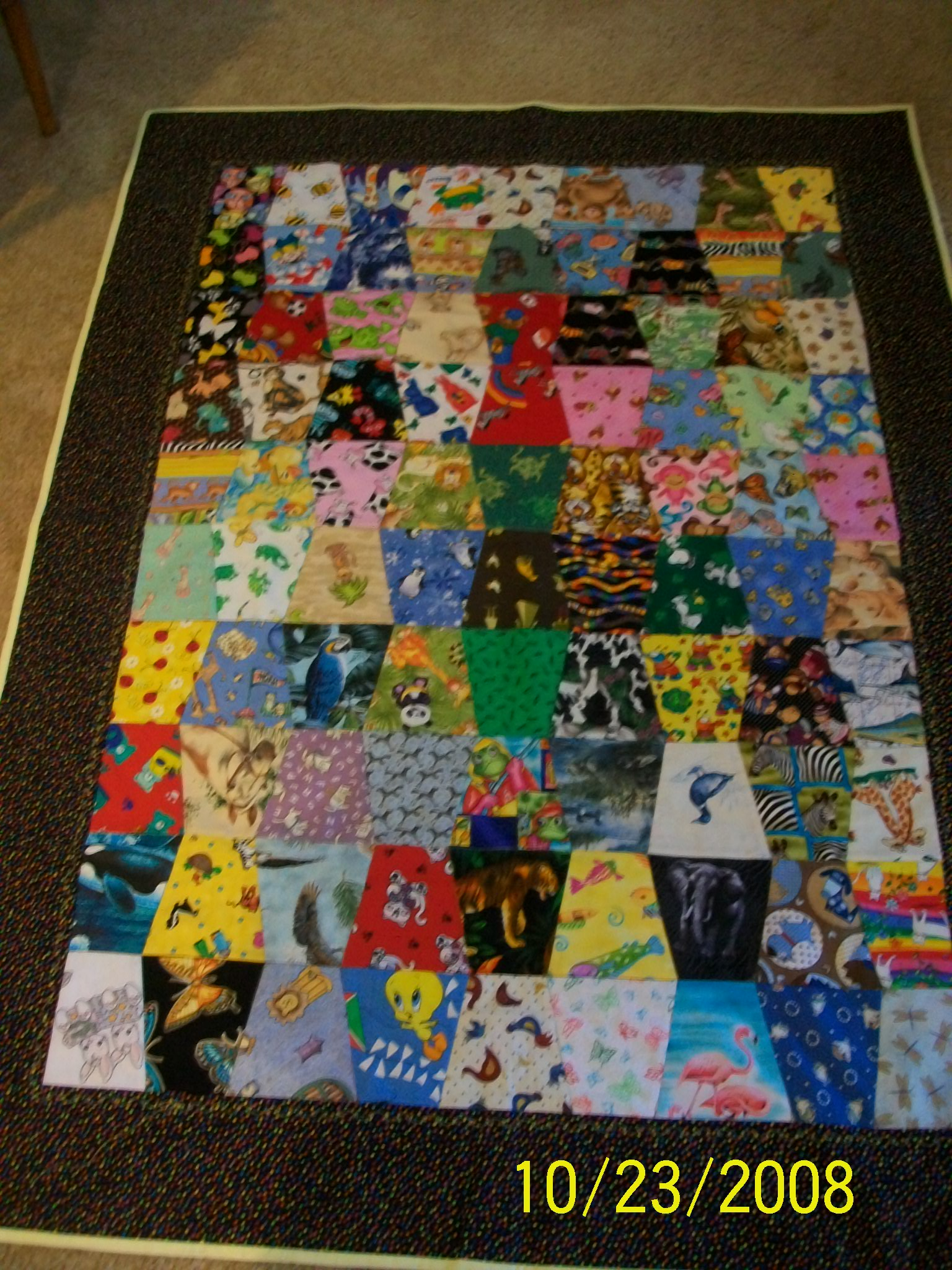 Name:  First I Spy Tumbler Quilt 001.JPG