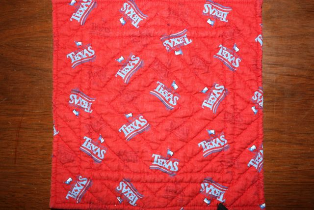 Name:  TX Diamond block quilted inta a hot pad. #2.jpg