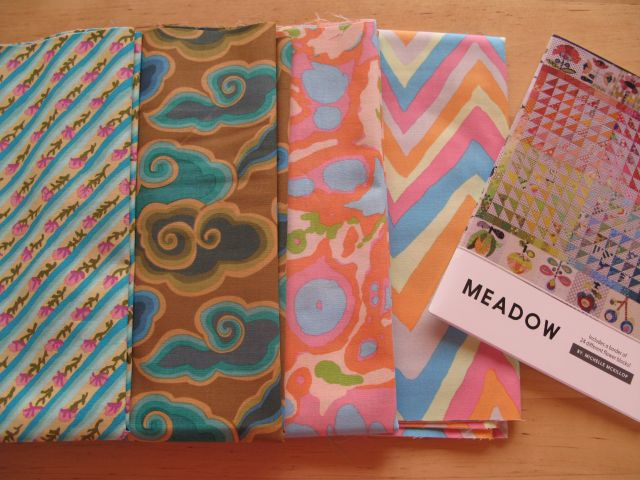 Name:  meadow pattern and some Kaffe fabrics.1.jpg Views: 48 Size:  95.1 KB