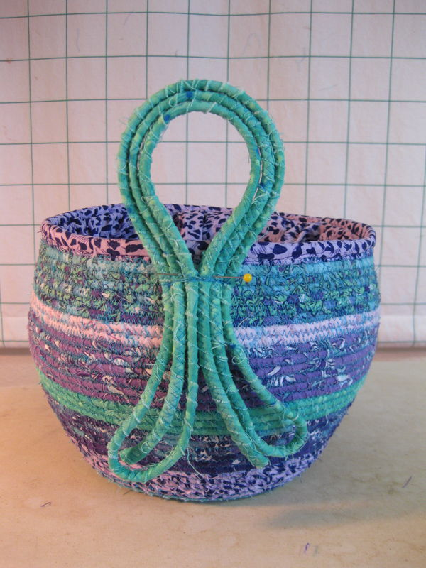 how to make a handle for a basket