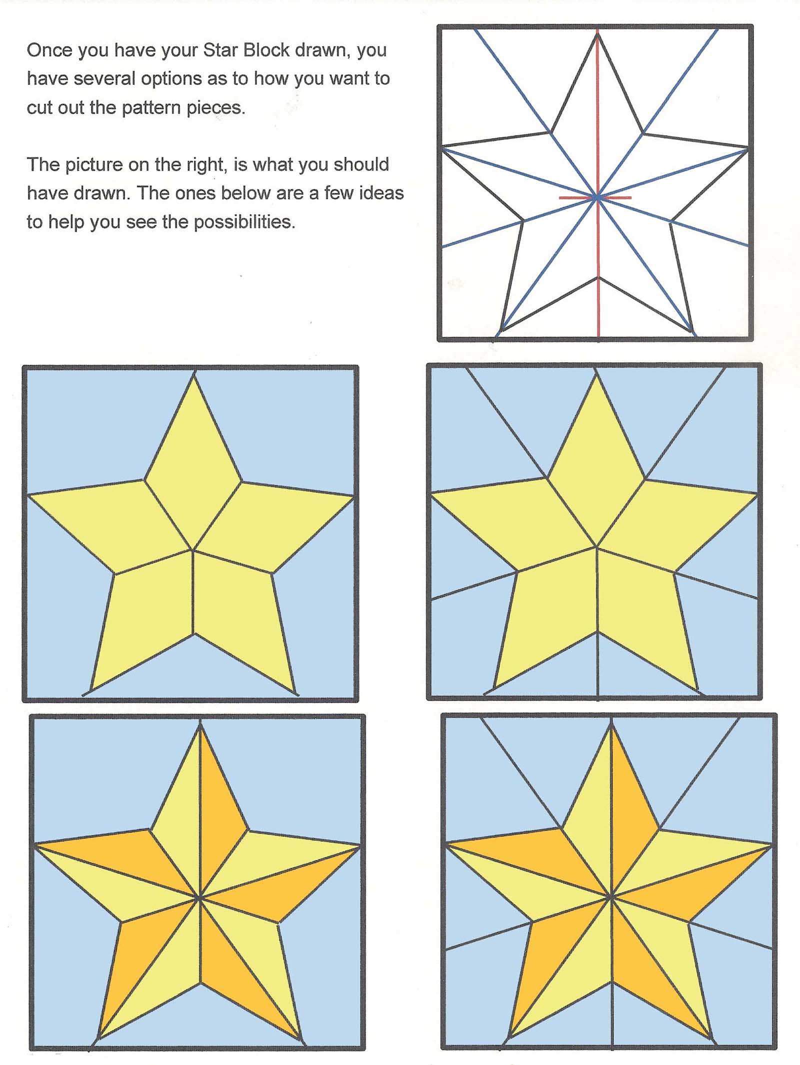5 Point Star Block Possiblities