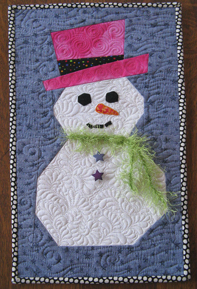 Snowman Pattern Paper Piecing With Freezer Paper
