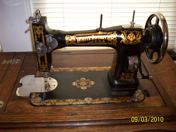 white rotary sewing machine serial numbers