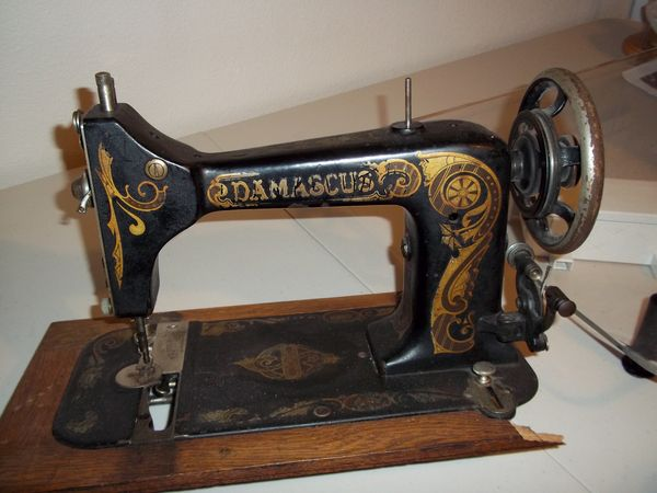 damascus sewing machine serial number location