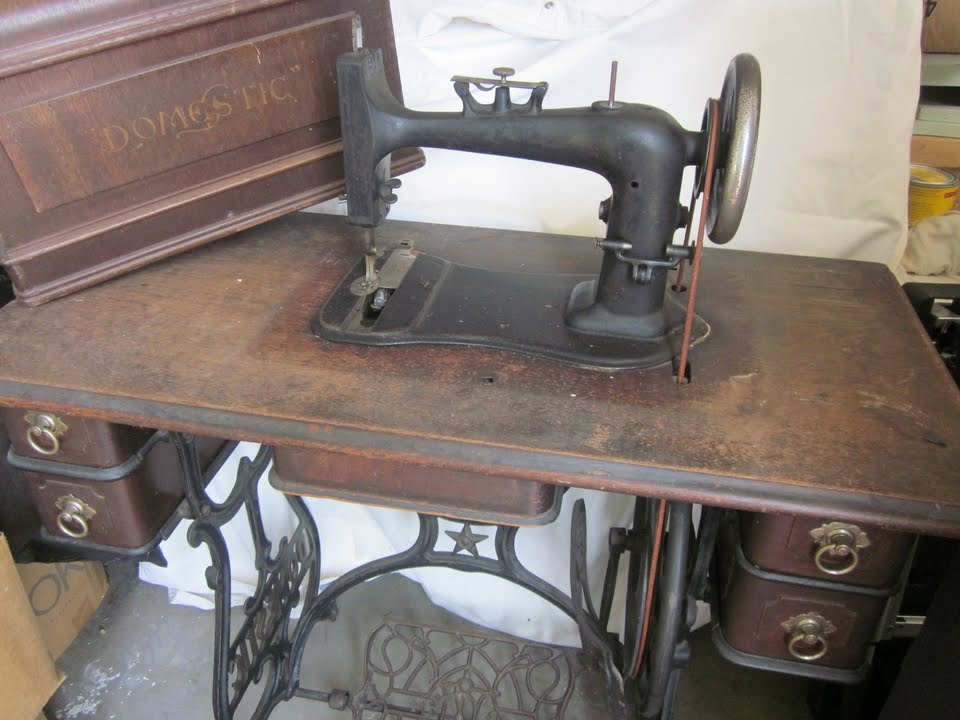 Domestic High Arm Treadle in Coffin Top cabinet. Worth it?