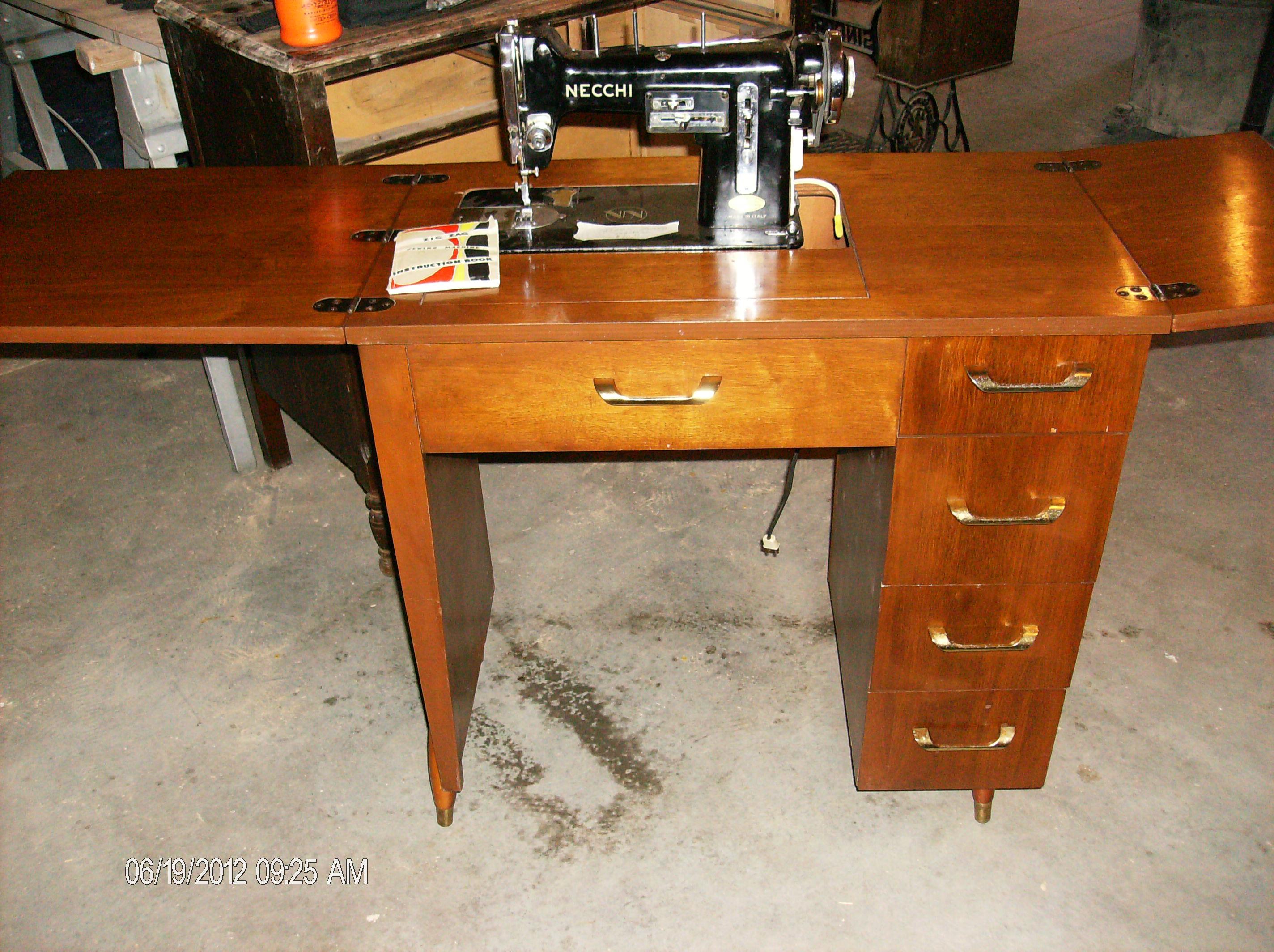 10 Necchi In Cabnit Supernova Sewing Machine Threading Diagram Vintage Attached Images