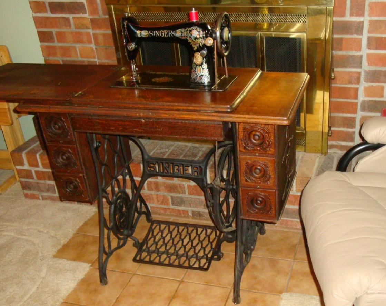 Cool Antique Singer Sewing Machine Cabinet Homdesigns Interior Design Ideas Clesiryabchikinfo