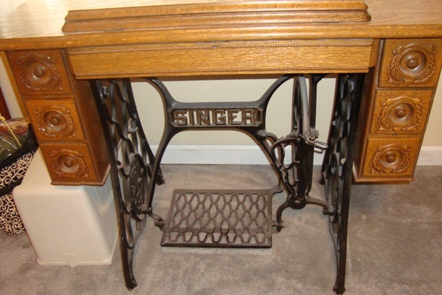 Need help trying to fit my 301 into a Singer treadle cabinet #5/#6