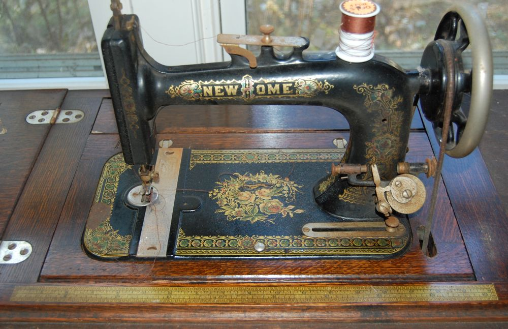 vintage new home sewing machine