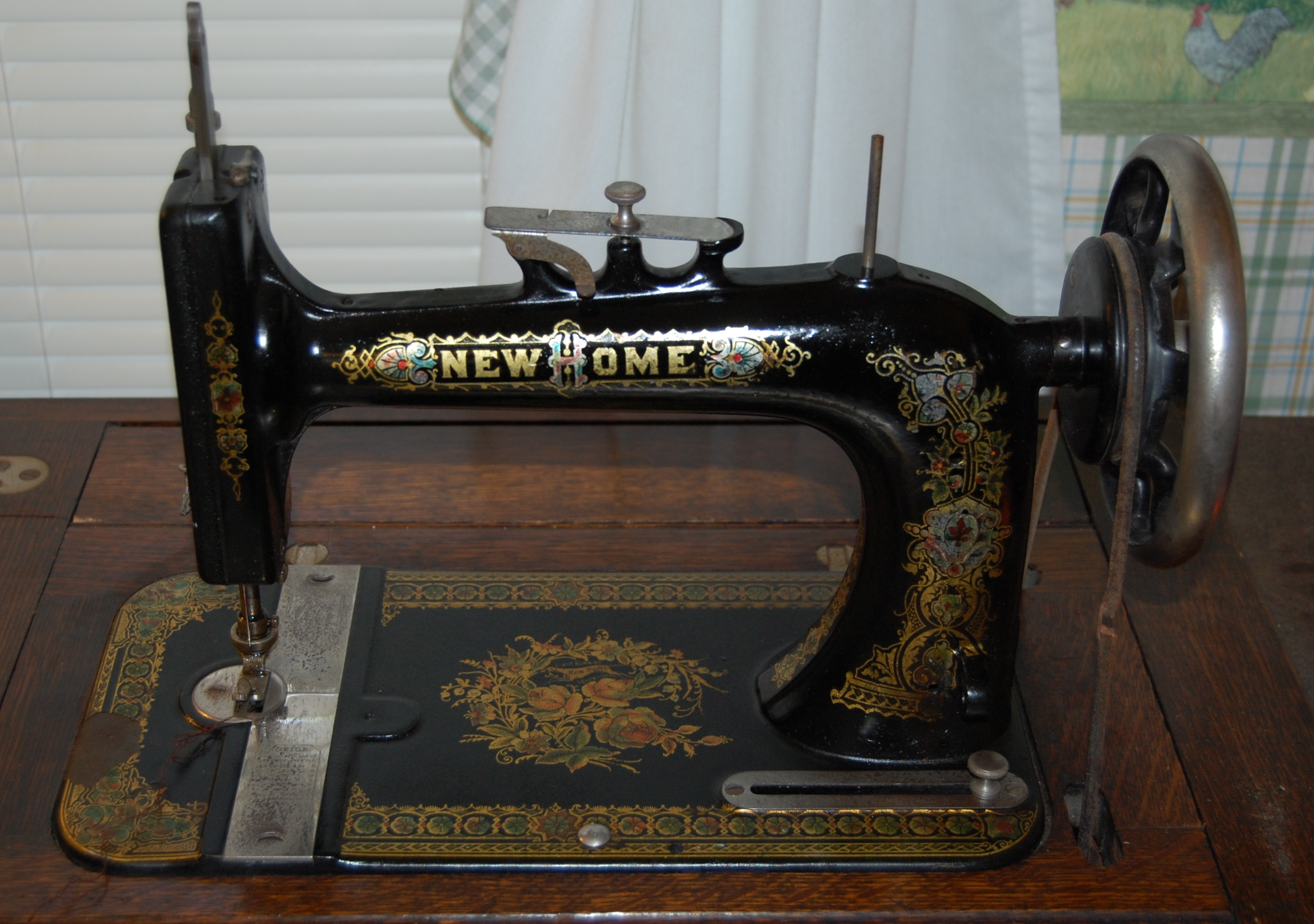 new home vintage sewing machine