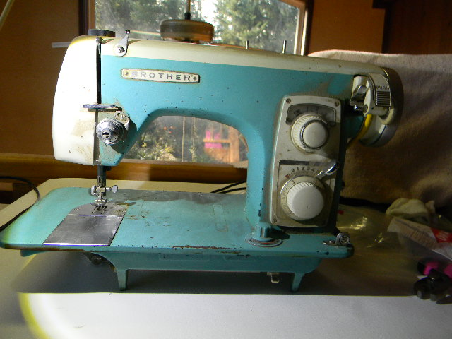 Vintage Japanese 'Badged' Zig Zag And Straight Sew Sewing Machines Custom Brother Japan Sewing Machine